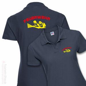 Feuerwehr Premium Damen Poloshirt Firefighter IV