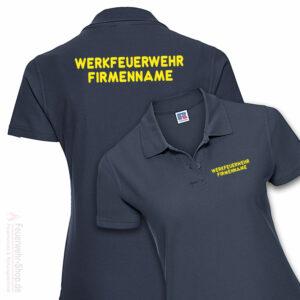 Feuerwehr Premium Damen Poloshirt Werkfeuerwehr I mit Firmennamen