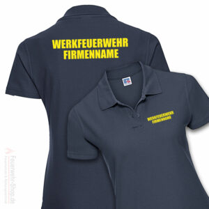 Feuerwehr Premium Damen Poloshirt Werkfeuerwehr II mit Firmennamen