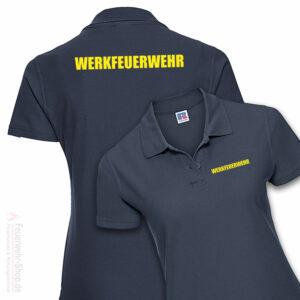 Feuerwehr Premium Damen Poloshirt Werkfeuerwehr II