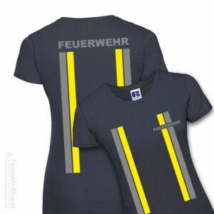 Feuerwehr Premium Damen T-Shirt im Einsatzlook