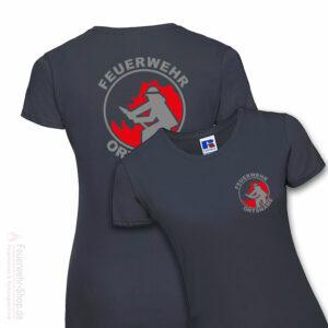 Feuerwehr Premium Damen T-Shirt Firefighter I mit Ortsname