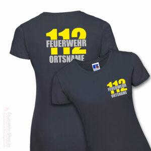 Feuerwehr Premium Damen T-Shirt Firefighter II mit Ortsname