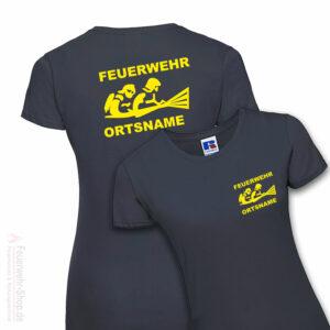 Feuerwehr Premium Damen T-Shirt Firefighter III mit Ortsname