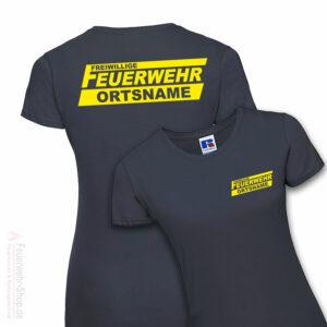 Feuerwehr Premium Damen T-Shirt Freiwillige Feuerwehr Logo mit Ortsname