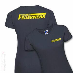 Feuerwehr Premium Damen T-Shirt Freiwillige Feuerwehr Logo