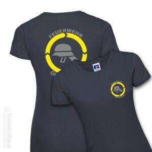 Feuerwehr Premium Damen T-Shirt Helm mit Ortsname