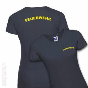 Feuerwehr Premium Damen T-Shirt Rundlogo