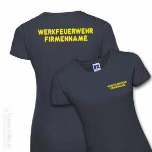 Feuerwehr Premium Damen T-Shirt Werkfeuerwehr I mit Firmennamen