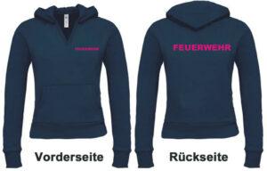 Feuerwehr Damen Kapuzen-Sweatshirt