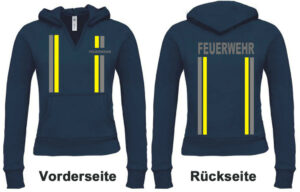 Feuerwehr Damen Kapuzen-Sweatshirt im Einsatzlook