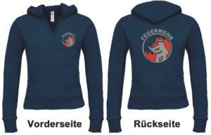 Feuerwehr Damen Kapuzen-Sweatshirt Modell Firefighter I