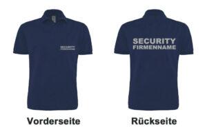 Sicherheitsdienst Poloshirt Modell Basis mit Firmennamen