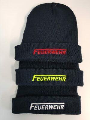 Premium Wollmütze Feuerwehr-Logo bestickt