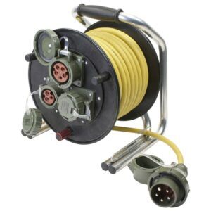 Leitungsroller Feuerwehr 400 V, 16 A, 25 m, CEE 5-pol