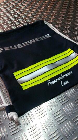 Turnbeutel im Feuerwehrdesign - Trend-Bag 1 mit Beschriftung individual