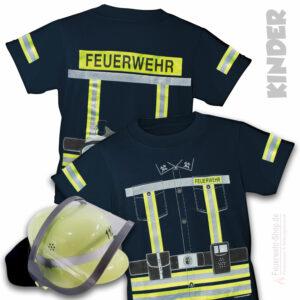 Kinderfeuerwehr T-Shirt Einsatzleiter mit Kinderfeuerwehrhelm