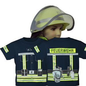 Kinderfeuerwehr T-Shirt Einsatzleiter mit Kinderfeuerwehrhelm-0