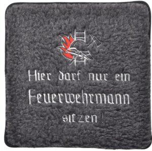 Filzsitz-Kissen Feuerwehrmann (grau)-0