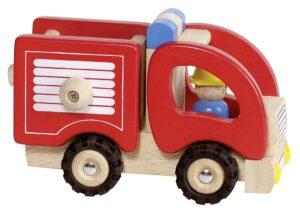 Feuerwehrauto aus Holz-0