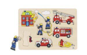 Steckpuzzle Feuerwehreinsatz -0
