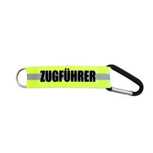 Schlüsselanhänger Karabiner Feuerwehr im EL Zugführer -0
