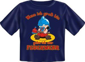 Kinderfeuerwehr T-Shirt Wenn ich groß bin-0