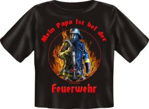 Kinderfeuerwehr T-Shirt Papa ist bei der Feuerwehr-0