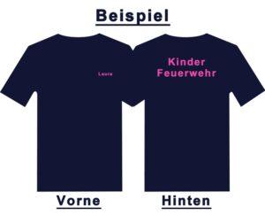 Kinderfeuerwehr Premium T-Shirt Basis mit Wunschtext-0