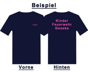 Kinderfeuerwehr Premium T-Shirt Basis mit Wunschtext und Ortsnamen-0