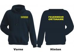 Kinderfeuerwehr Premium Kapuzen-Sweatshirt Basis mit Ortsnamen/Text-0