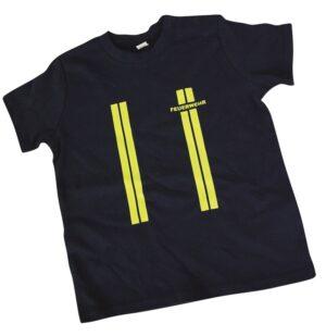 Kinderfeuerwehr Premium T-Shirt im Einsatzlook gelb-0