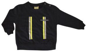 Kinderfeuerwehr Premium Pullover im Einsatzlook gelb/silber-0