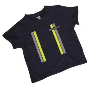 Kinderfeuerwehr Premium T-Shirt im Einsatzlook gelb/silber-0