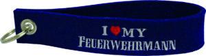 "Filzschlüsselanhänger ""I Love My Feuerwehrmann"""