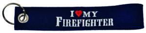 "Filzschlüsselanhänger ""I Love My Firefighter"""