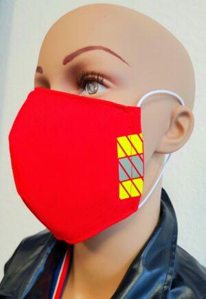 Mund-Nasenmaske Feuerwehr Rescue rot 2020 (1)
