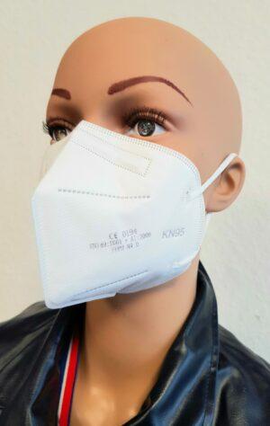 Comfort FFP2 Maske KN95 CE 0194 EN149: mit verstellbarem Nasenclip