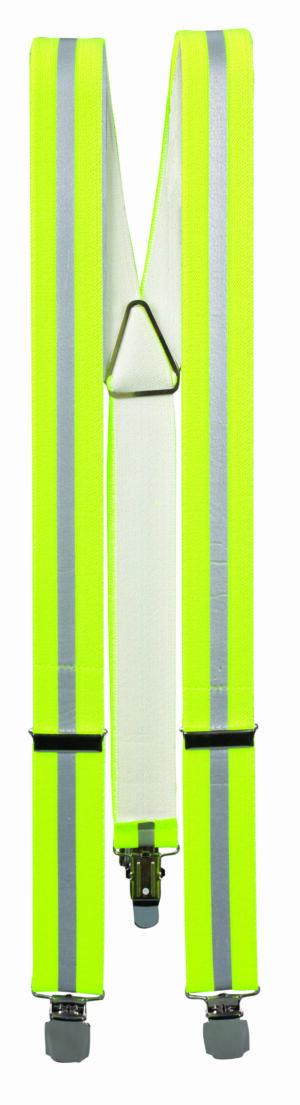 Hosenträger mit Reflektor Streifen - neongelb