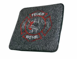 Filzsitz-Kissen Feuerwehr (grau)