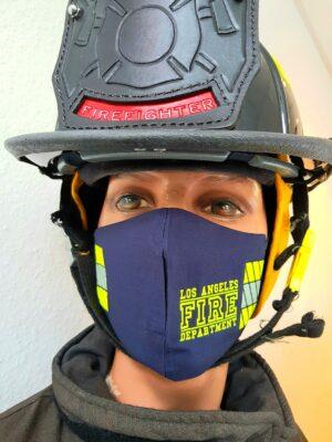 Mund-Nasenmaske Facemask Los Angeles Fire Department FDLA Limited Edition Mundschutz navy