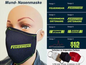 Mund-Nasenmaske II Mundschutz Multi 2020