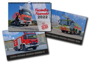 Hochglanz Wandkalender DIN A3 Faszination Feuerwehr 2022